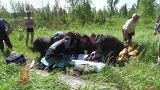Шторм на озері у Красноярському краї (відео ГУ МВС по краю)