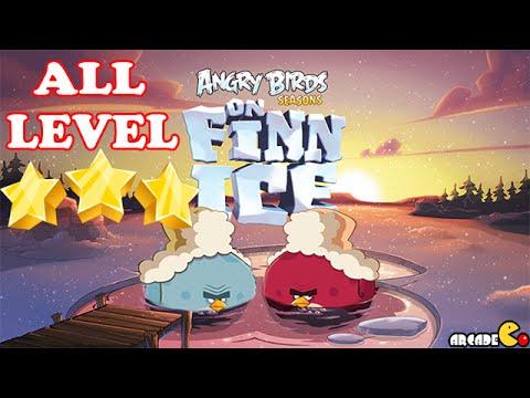 Angry Birds Seasons: On Finn Ice ALL LEVEL 1-25 Walkthrough 3 Star
