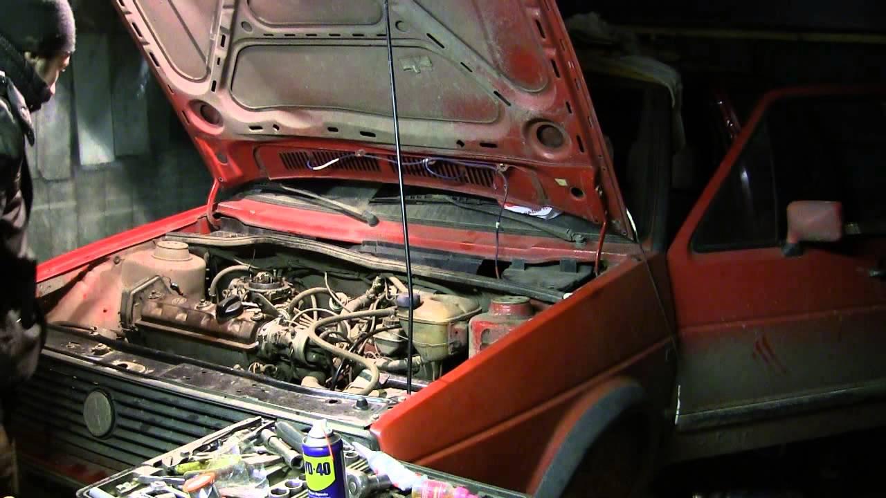 Golf 2 ремонт ДВС видео 22, запускаем мотор после ремонта