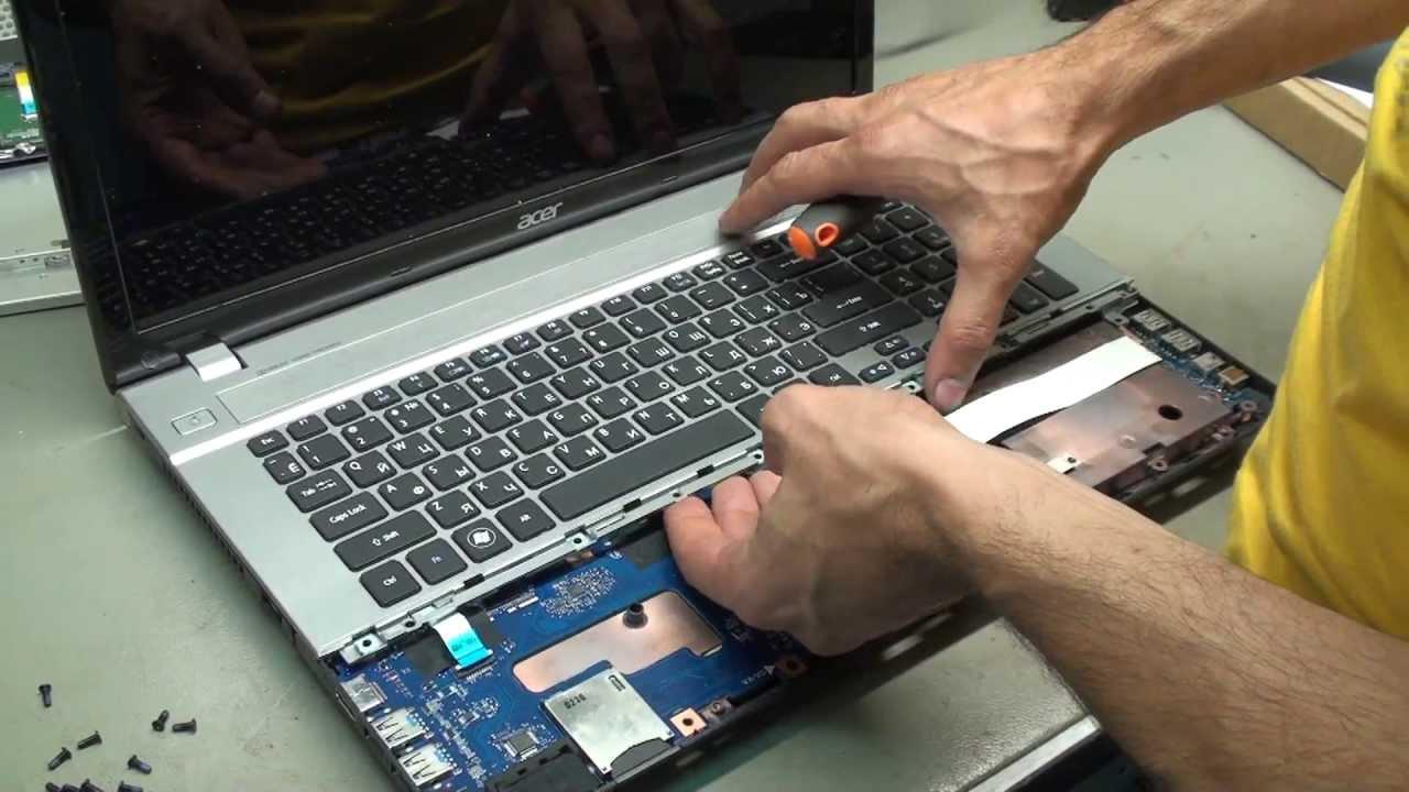 Ремонт ноутбука Acer 5620z петли и корпус - YouTube
