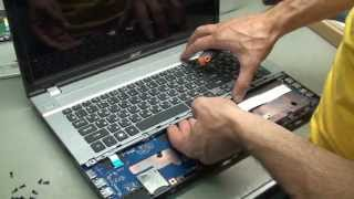 Разборка и чистка Acer Aspire  V3-771G / Disassembly and Cleaning Acer Aspire V3-771G