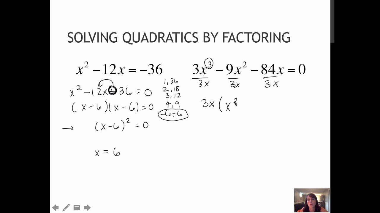 15 3 Solve Quadratics