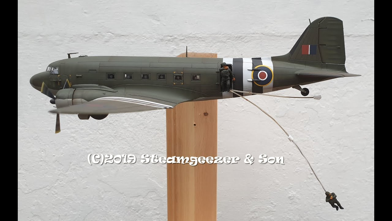 Building the Airfix 1/72 scale Douglas C47 Skytrain for a military heritage  display