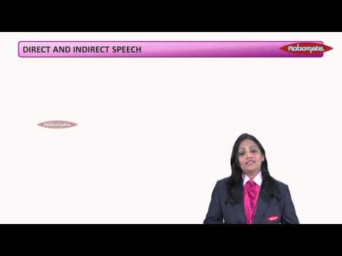 English Grammar - Direct And Indirect Speech - PSA - CBSE -