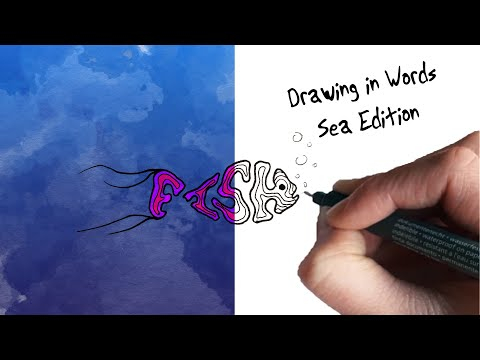 Drawing in words - Sea edition