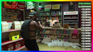 How To Rob A Store For $900,000 In GTA Online! (GTA 5 Solo Money Glitch) (PS4/XBOX/PC)