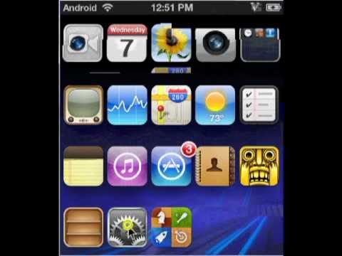 Turn Your iPhone Into An Android Phone!