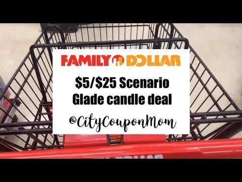 Family Dollar $5/$25 Another Glade Candles Scenario Week 9/29 - 10/5