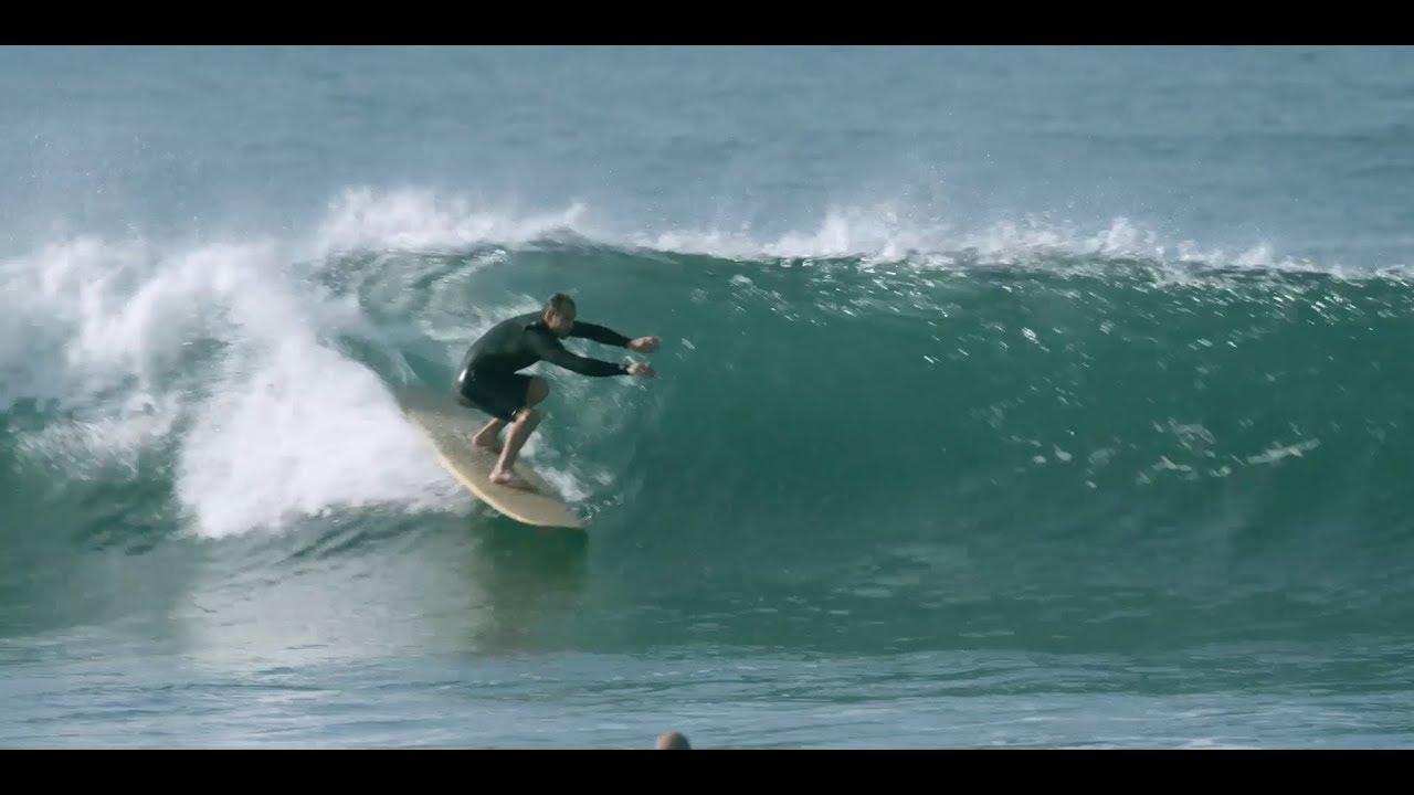 3766983c0a How to surf an OLD LONGBOARD: Tyler Hatzikian ripping 1960s Hansen