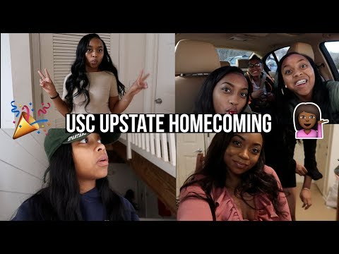 HOMECOMING WAS EXTRA LIT! | USC UPSTATE COLLEGE VLOG | Chamira & Shantal