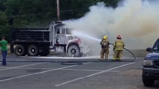 Sunderland dump truck fire