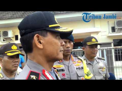 Brimob Polda Aceh Kembali ke Markasnya Setelah Amankan Pilkada Jambi