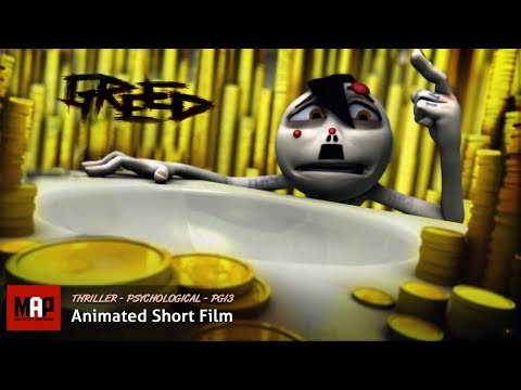 "CGI 3D Animated Short Film ""GREED"" Award Winning Dark Psychological Thriller by Alli Sadegiani"