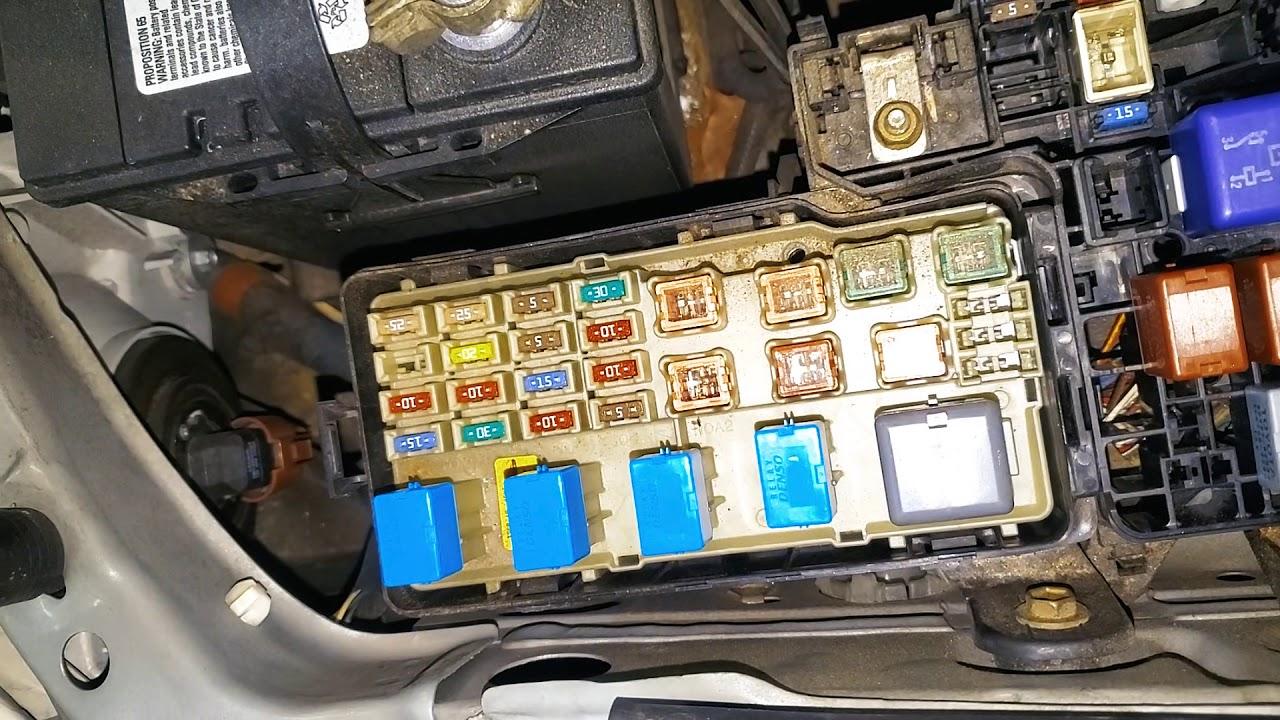 2004 Camry Fuel Pump Relay Fuel Pump Fuse Location