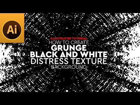 Create Grunge Black and White Distress Texture in Illustrator Tutorial thumbnail