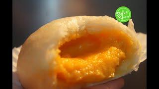 Cách làm Bánh Bao Ngọt siêu ngon với nhân tan chảy, dễ làm -Steamed Custard/Lava Bun -Dim Sum Recipe