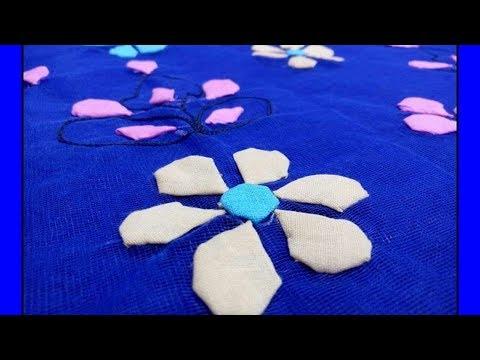 15c7e8e14bb Applique Tutorial  Cut work  Spots in circle shape Dupatta designing Shirt  Designing