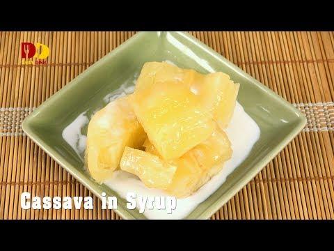 Cassava in Syrup | Thai Dessert | Mun Chuem | มันเชื่อม