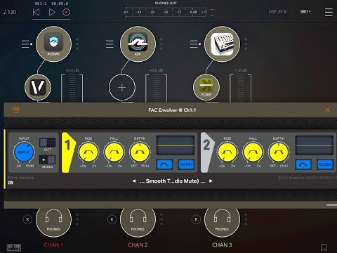 FAC ENVOLVER - AUv3 Envelope Follower - TUTORIAL for the iPad