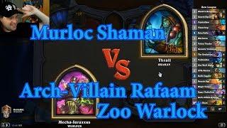 Arch-Villain Rafaam Zoo Warlock vs Murloc Shaman | Hearthstone
