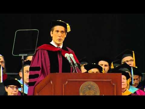 David Muir Northeastern University Commencement 2015