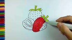 Cara Menggambar Buah Strawberry