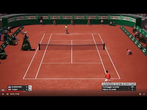 Novak Djokovic vs Dominic Thiem - Roland Garros 2019 French Open - AO Tennis (PS4)