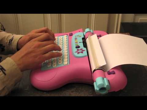 Barbie typewriter