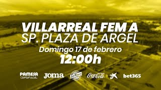 Femenino A vs Sp. Plaza de Argel