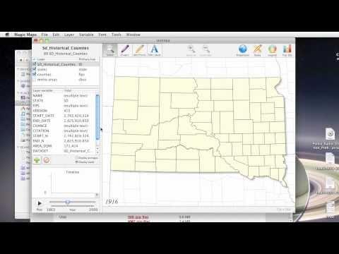 Magic Maps Tutorial: Historical South Dakota Counties