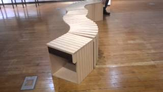 Woodworking - Slinky Bench (snake Shaped Freeform Bench)