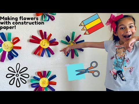 attempting-diy-flowers-with-construction-paper