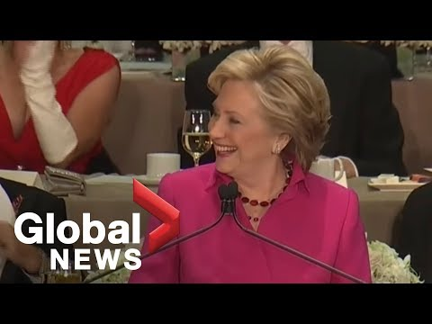 Full monologue: Hillary Clinton roasts Donald Trump at Al Smith charity dinner