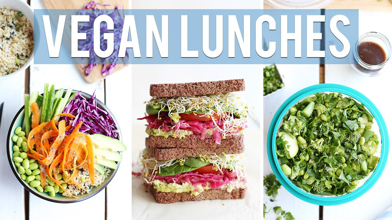 3 healthy vegan lunch ideas for work school youtube forumfinder Choice Image