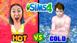 HOT VS COLD POOL CHALLENGE!!! (TEAM RAR SIMS EDITION)