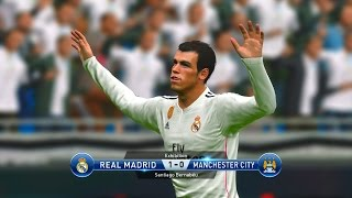 PES 2015 Gameplay - Real Madrid vs Manchester City HD (PC/PS4)