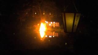 2011年10月9日 湯涌温泉・玉泉湖畔で行われた「湯涌ぼんぼり祭り」お焚き上げ神事.