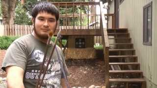 Shooting The Seminole Inspired 40-45 Pound Pvc Flat Bow