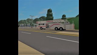 Tower 23 and Ambo 28 responding to person stuck on roof (Roblox Firestone V2)