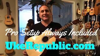 Ohana (Prototype) Solid Spruce and Acacia Tenor Guitar