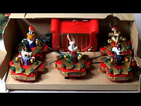 Looney Tunes Animated Christmas Tree Ornaments Brass Band