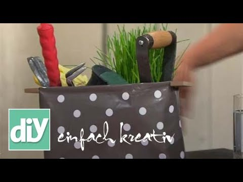 tisch utensilo aus wachstuch diy einfach kreativ youtube. Black Bedroom Furniture Sets. Home Design Ideas