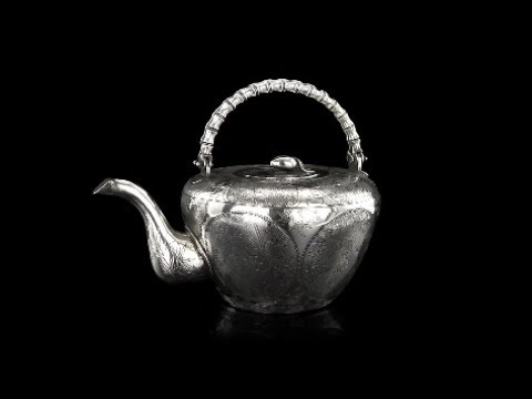 ANTIQUE 19thC CHINESE EXCEPTIONAL SOLID SILVER TEAPOT, SAN YANG, BEIJING c.1880