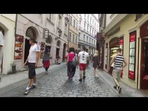 Walking Around Prague, Czech Republic #1  - June 2016  DJI Osmo