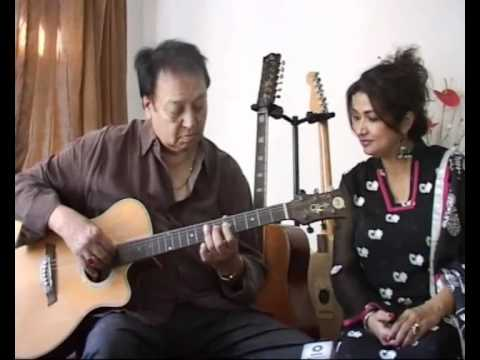 Bhupinder Singh & Mitali Singh rehearse for their album AKSAR with Gulzar