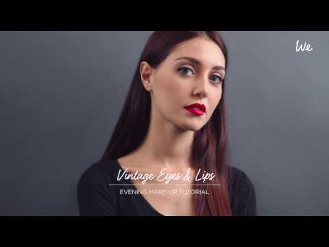 Vintage Eyes & Lips — Evening We Make-up Tutorial