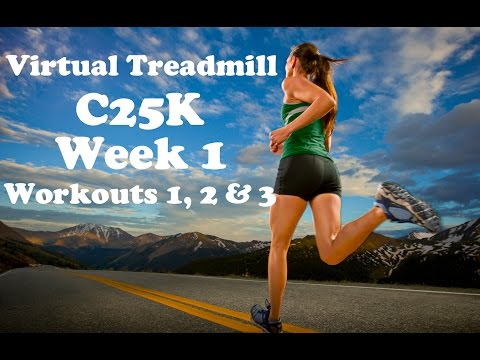 Virtual Treadmill C25K Week 1, Workouts 1, 2 and 3