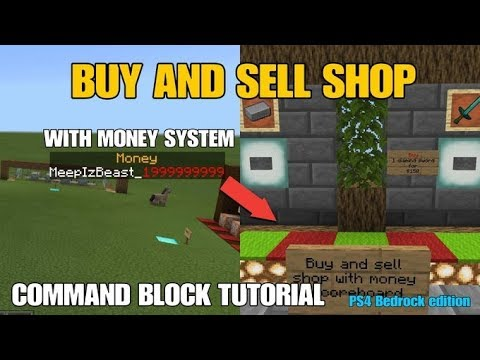 BUY AND SELL SHOP WITH MONEY SYSTEM! | PS4 Bedrock Command Tutorial