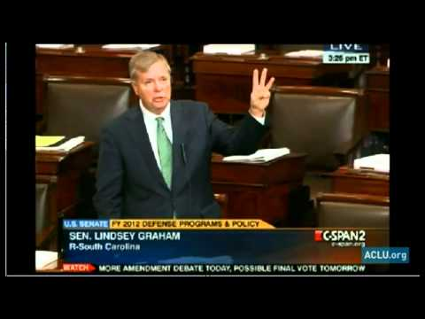 Sen. Lindsey Graham on the NDAA, Indefinite Detention of American Citizens