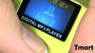 $14.99 4GB Small Screen Clip MP3 Player Green-88005881